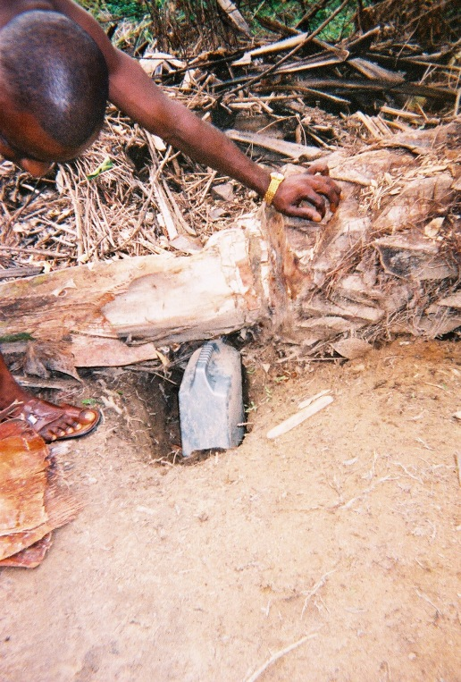 Collecting sap for palm wine: Site of future Hospital